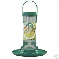 Wild bird feeder for mealworms or seed